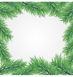 frame with christmas tree branch vector image vector image