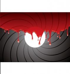 gun barrel inside blood vector image
