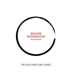 Hand drawn grunge circle shape vector