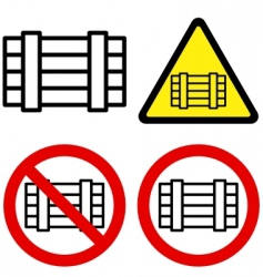 luggage signs vector image vector image