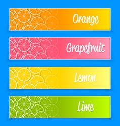 Promotional citrus banners vector