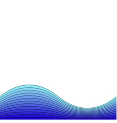 abstract background from blue layer stripes - vector image