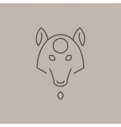 Abstract Line Drawing Of Wolf Head vector image