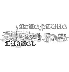 Adventure travel text word cloud concept vector