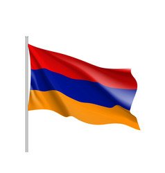 armenia national flag realistic vector image