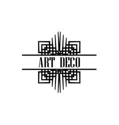 Art deco logo vector