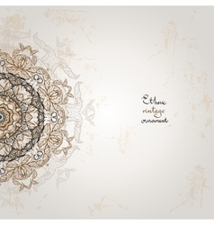 Background with ethnic ornament vector image