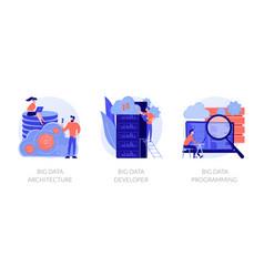 Big data technology concept metaphors vector
