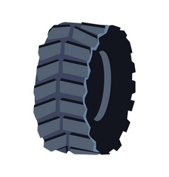 black rubber tire for road transport cartoon vector image