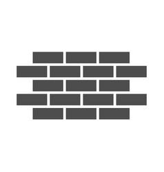 Brick wall solid icon bricks vector