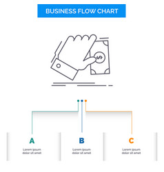 business hand money earn dollar business flow vector image