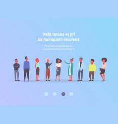 Casual people group business meeting brainstorming vector