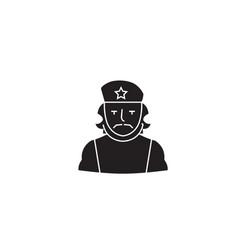 che guevara black concept icon che guevara vector image