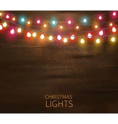 Christmas Lights Poster vector