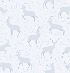 Christmas pattern with deers vector image