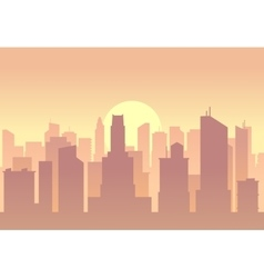 City flat skyline vector