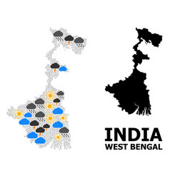 Climate mosaic map west bengal state vector