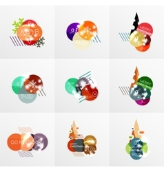 Collection of Christmas Sale Stickers Labels and vector