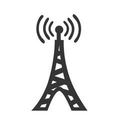 Communication antenna theme icon design vector image
