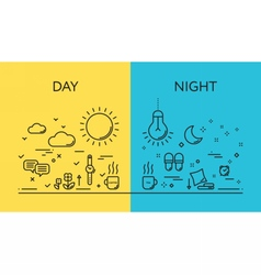 concepts of days and night vector image