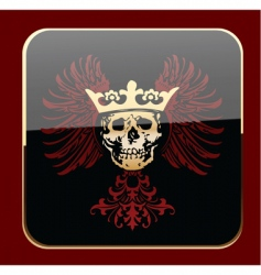 crowned skull vector image