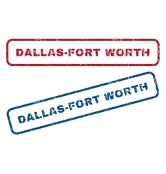 Dallas-fort worth rubber stamps vector