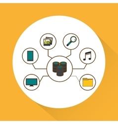 Data center iicon set design vector