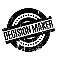 Decision maker rubber stamp vector