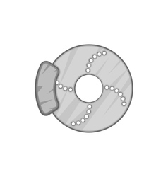 Disc brake car icon black monochrome style vector