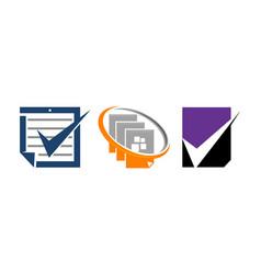 document checklist template set vector image