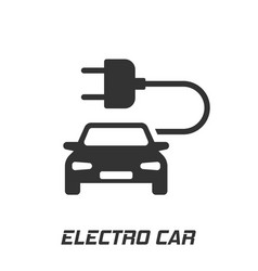 Electro car icon in flat style electric vector