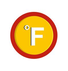 Fahrenheit icon flat style vector