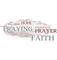 faith word cloud concept vector image