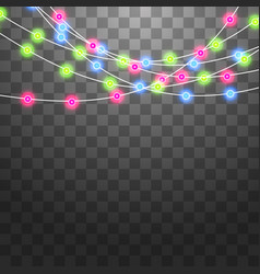 Festive garlands set of decorations with vector