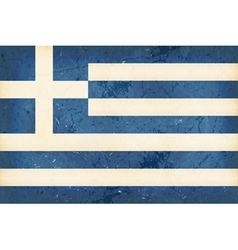 Flag of Greece with grunge elements vector image