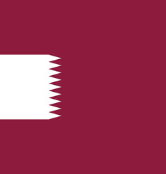 Flag of qatar official colors and proportions vector
