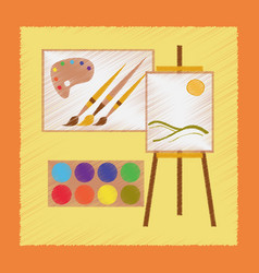 Flat shading style icon drawing lesson vector