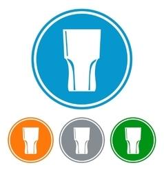 Flat tumbler glass for beer vector