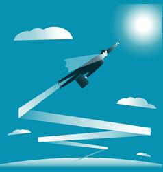 Flight to goal vector