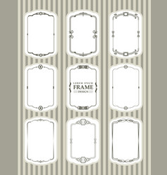 frame design decorate element set 1 vector image