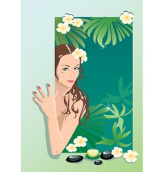 Girl with spa elements vector image