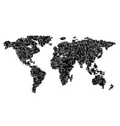 global world map isolated on white background vector image