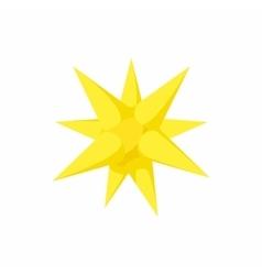 Gold moravian star icon cartoon style vector