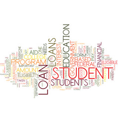 Government student loan text background word vector