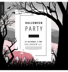Halloween party notice poster vector