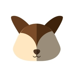 head dog brown ears shadow vector image