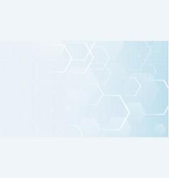 Hexagonal empty background for medical vector