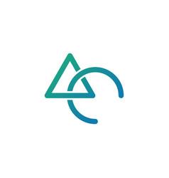 Initial ac logo template vector
