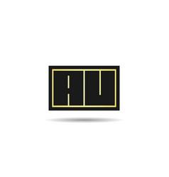 Initial letter au logo template design vector