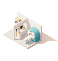 isometric low poly mri room icon vector image